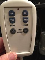 PICTURE OF LV 23 LOW VOLTAGE DUAL MASSAGE HAND CONTROL. IT CONNECTS TO A PINK J-BOX UNDER THE BED.YOU MUST UPGRADE TO THE RAVEN E-92 SYSTEM.